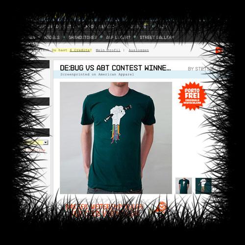 Das offizielle DE:BUG - Shirt by Christoph Langguth im Shop von a-better.tomorrow.com