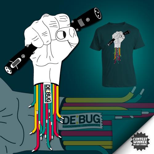 Offizielles neues DE:BUG - Shirt, gestaltet von Christoph Langguth