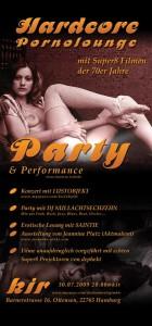 Flyer Hardcore Pornolounge Party